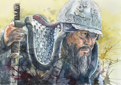 "The Admiral: Roaring Currents (Movie) (Watercolor, 20""x14"")"