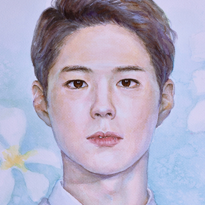 "Park Bo Gum (Watercolor, 20""x14"")"
