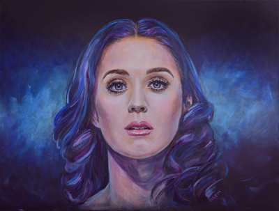 "Katy Perry (Acrylic on Canvas, 18""x24"")"