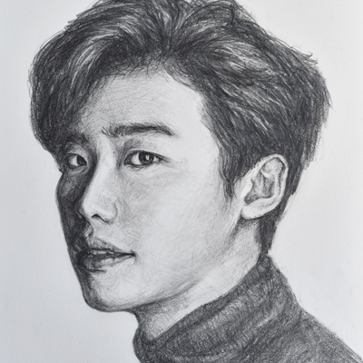 "Lee, Jong Suk (4B Pencil Drwaing, 12""x16"", Nov 2016)"