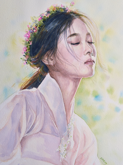"Kim, Yoo Jung (watercolor, 20""x14"", Nov 2016)"
