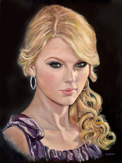 "Taylor Swift (oil, 18""x24"")"
