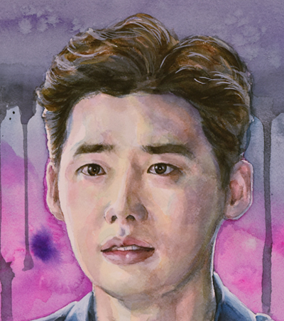 "Lee, Jong Suk (watercolor, 20""x14"", Aug 2016)"